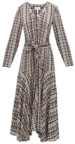Apiece Apart Pacifica Belted Checked Dress - Womens - Multi