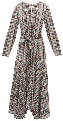 Apiece Apart Pacifica Belted Checked Dress - Multi