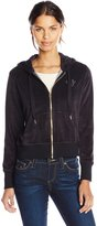 True Religion Women's Cropped Zip Hoodie