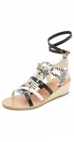 Ancient Greek Sandals for Peter Pilotto Wedge Gladiator Sandals