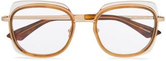 Emmanuelle Khanh Tortoiseshell Detailed Glasses