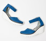 Fly London Leather Ankle Strap Wedges - Yand