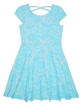 Epic Threads Big Girls Short Sleeve All Over Print Cross-Back Tank Dress