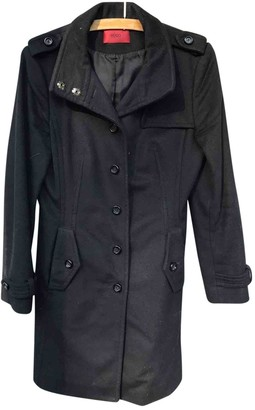 HUGO BOSS Black Wool Coat for Women