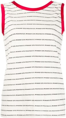 Pinko Logo Stripe Tank Top