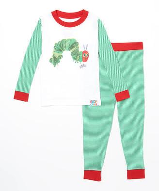 Intimo Sleep Bottoms PR873 - Green Eric Carle Caterpillar Book Cover Pajama Set - Infant