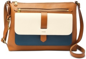 Fossil Kinley Colorblock Leather Crossbody