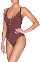Heidi Klum Intimates Majestic Shimmer One Piece With Eyelet Lace Up