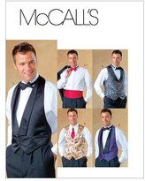 Mccall's M4321 Men's Lined Vests, Bow Tie and Cummerbund
