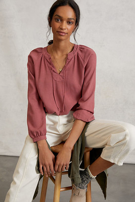 Cloth & Stone Becky Blouse By in Purple Size XS
