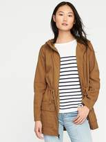 Old Navy Hooded Twill Utility Field Jacket for Women