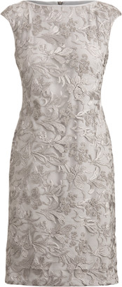 Ralph Lauren Two-Tone Embroidered Dress