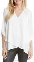Karen Kane Embellished Faux Wrap Top