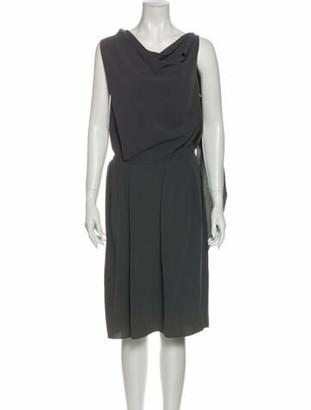 Lanvin 2009 Midi Length Dress Grey
