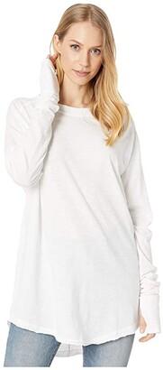 Free People Arden Tee (White) Women's Clothing