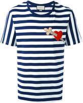 Gucci heart dagger striped T-shirt