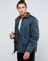 Brixton Colstrip Bomber Jacket With Sherpa Lining