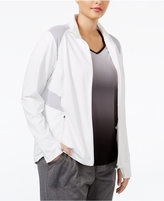 Ideology Plus Size Mesh-Trim Jacket, Only at Macy's