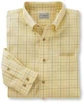 L.L. Bean Wrinkle-Free Twill Sport Shirt, Traditional Fit Windowpane