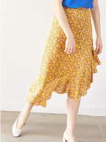 P & Lot Yellow Blossom Ruffle Skirt