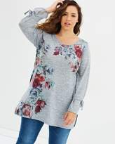 Evans Rose Embroidered Tunic