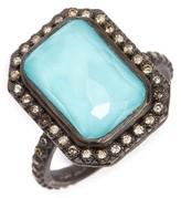 Armenta Women's Old World Midnight Turquoise & Diamond Ring