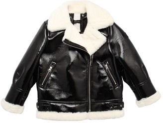 MonnaLisa Faux Fur Biker Jacket
