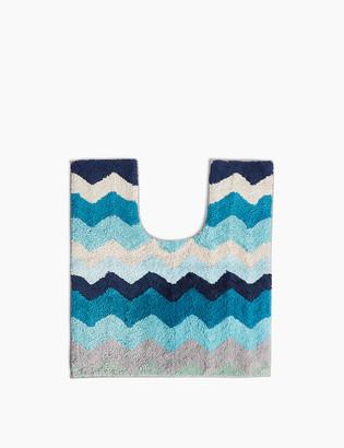 Marks and Spencer Cotton Zig-Zag Pattern Pedestal Mat