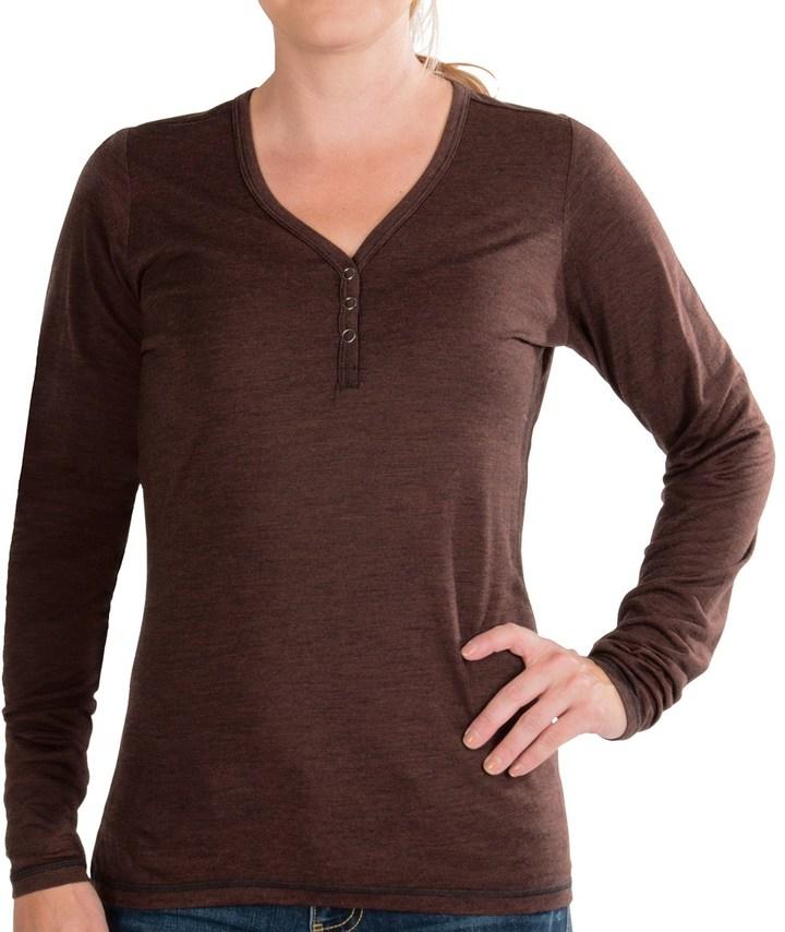 NAU M2 Henley Shirt - Merino Wool-TENCEL®, Long Sleeve (For Women)