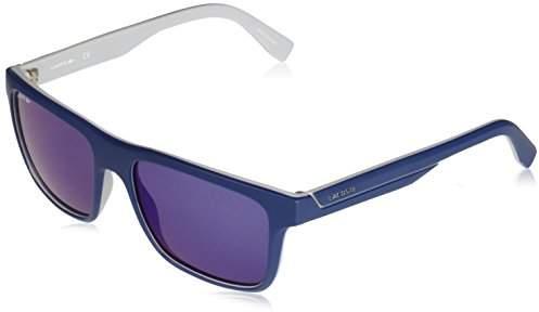 f172786b2a8c5 Men's L876s Plastic Square Stripes & Piping Sunglasses