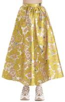 MSGM Floral Print A-Line Skirt