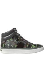 Jimmy Choo Camouflage Ponyskin Belgravia Sneakers