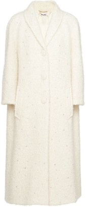 Miu Miu Crystal-Embellished Oversized Coat