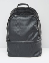 Asos Backpack With Black Faux Snake