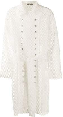 ANAÏS JOURDEN mesh style trench coat