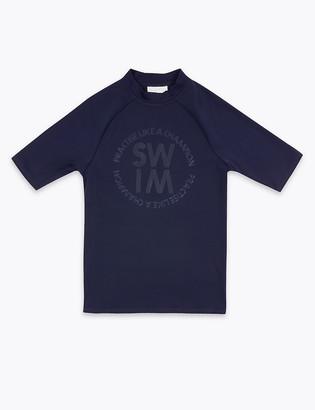 Marks and Spencer Swim Slogan Rash Vest (2-16 Yrs)