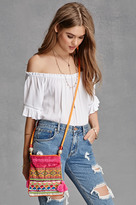 Forever 21 FOREVER 21+ Abstract Woven Bucket Bag