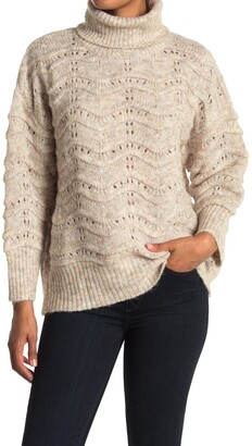 FRNCH Cable Knit Turtleneck Sweater