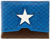 Marvel Blue Captain America Bi-Fold Wallet