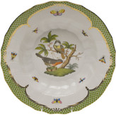 Herend Rothschild Bird Green Motif 02 Rim Soup Bowl