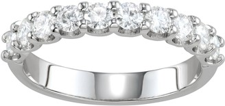 Charles & Colvard 14k White Gold 1 Carat T.W. Lab-Created Moissanite Anniversary Band
