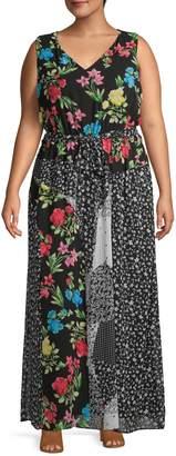 Calvin Klein Plus Floral Maxi Dress