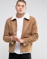 Brave Soul Faux Shearling Sherpa Collar Jacket