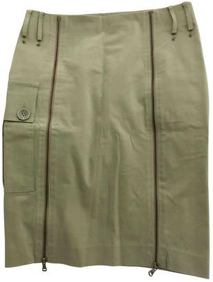 Patrizia Pepe Khaki Cotton Skirt for Women