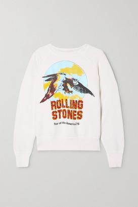 MadeWorn Rolling Stones Printed Cotton-jersey Sweatshirt - White