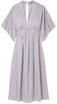Adam Lippes Striped Cotton-twill Dress