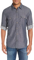 Timberland Chambray Long Sleeve Trim Fit Shirt