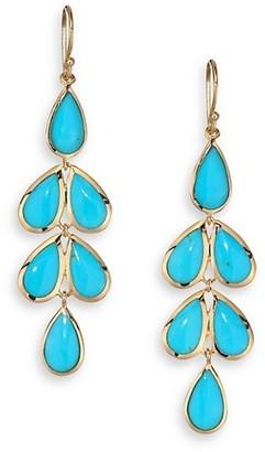 Ippolita Rock Candy Turquoise & 18K Yellow Gold Linear Cascade Earrings