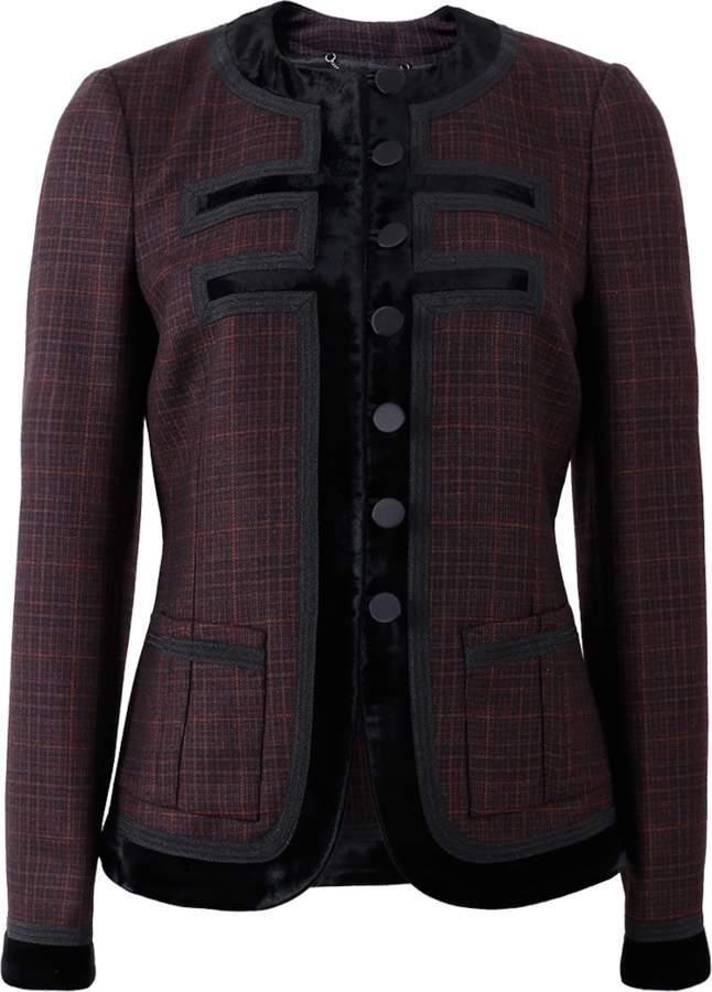 Givenchy Velvet Button Front Jacket