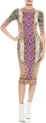 Alice + Olivia Delora Crewneck Dress